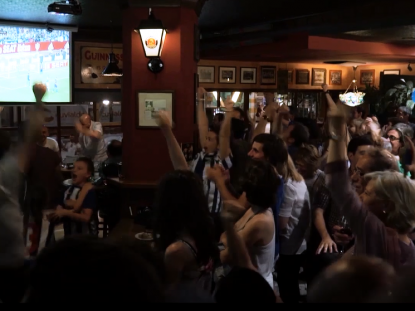 La final de la Copa del Rey llenó el O'Connor's Irish Pub